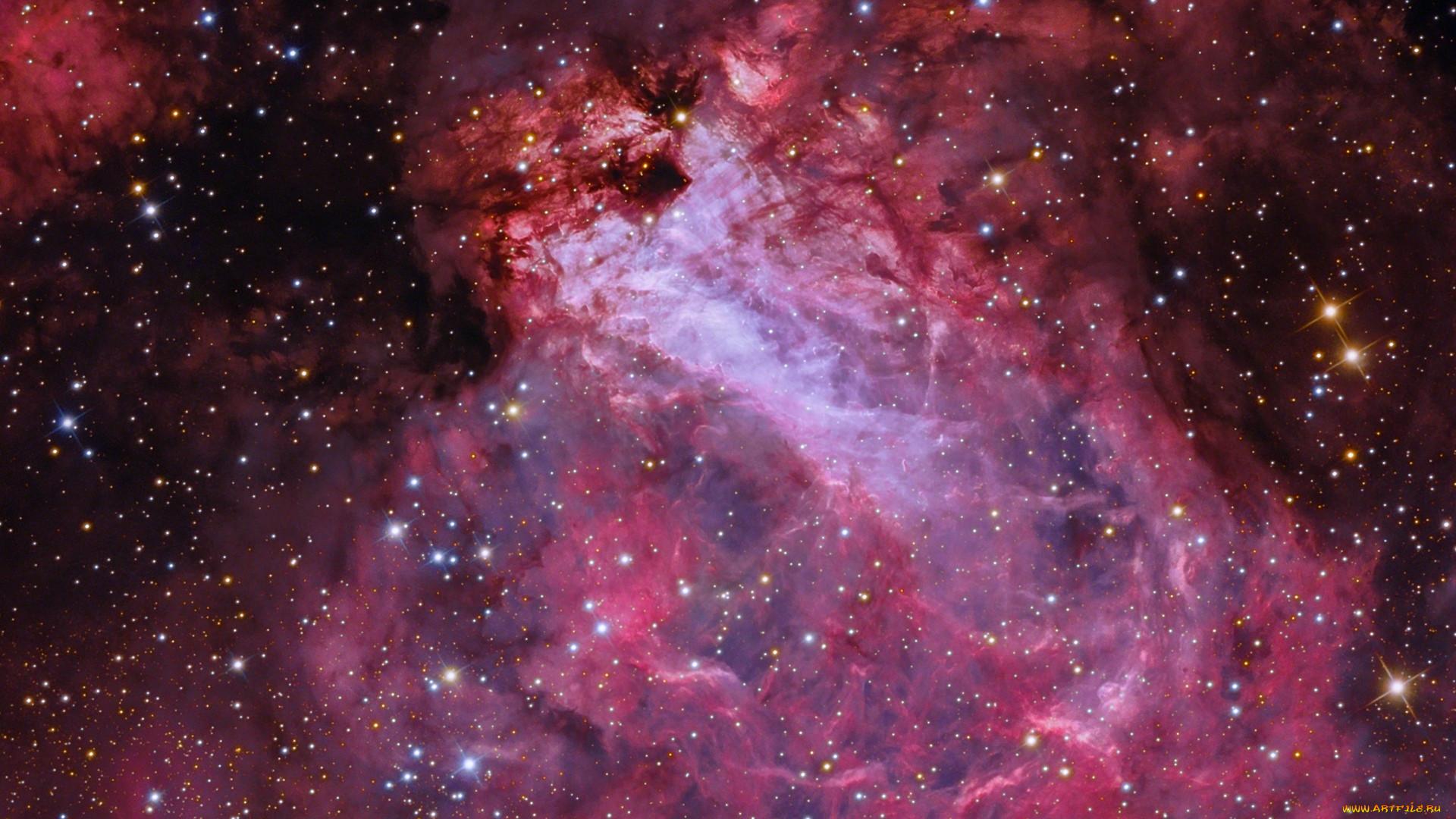 космос, галактики, туманности, туманность, омега